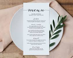 simple menu template free best 25 wedding menu template ideas on wedding dinner