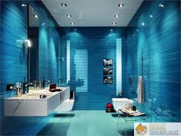 blue bathroom designs blue walls mixed splashes white give bathroom lentine