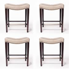 set of four hickory chair madigan backless counter stools decor