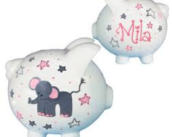 customized piggy bank baby custom piggy bank etsy