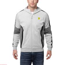 ferrari clothing new stock arrival men puma ferrari hooded jacket light gray