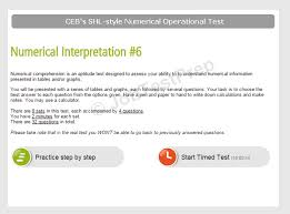 ceb u0027s shl operational level numerical and verbal reasoning