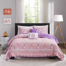Cotton Quilted Bedspread Pink Quilts U0026 Coverlets Sears