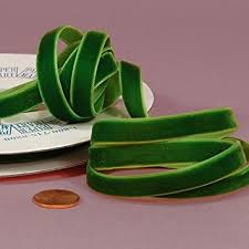 velvet ribbon emerald green velvet ribbon 3 8 x 25yd