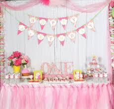 Birthday Table Decorations by Original 1st Birthday Party Inside Affordable Article Happy Party