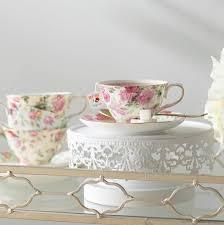 lark manor ilian 8 oz porcelain chintz 4 tea cup and