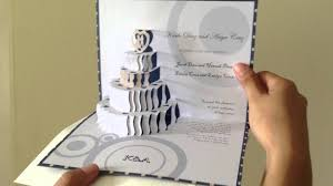 pop up wedding invitations 3d pop up wedding cake invite