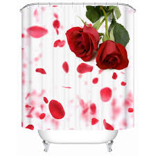 high quality wholesale shower screens from china shower screens high quality bathroom products shower curtains bathroom curtain waterproof screen bright red roses mg 052