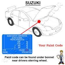 paint code location suzuki forums suzuki forum site