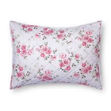 purple berry rose linen blend sham simply shabby chic target