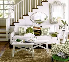 natural green nuance of the decorating house that has white sofas