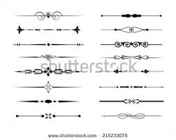 vector ornamental dividers free vector stock