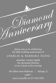 60th anniversary invitations gray diamond 60th anniversary invitation 60th wedding