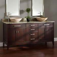 52 Bathroom Vanity Cabinet by Bathroom Espresso Finish Double Vessel Sink Bathroom Vanity With