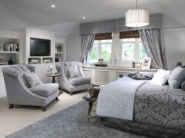 Design Ideas Master Bedroom Sitting Room Modern Master Bedroom Grey Wall White Bedding Bed Glass Walls