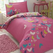 kids u0027 pink u0027rainbow butterflies u0027 duvet cover and pillow case set