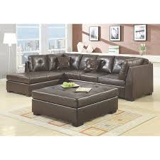 Black Leather Sectional Sofa Contemporary Black Leather Sectional Sofa Left Side Chaise By