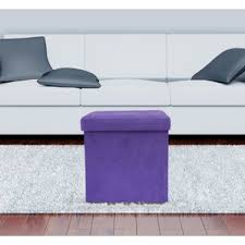 purple ottomans u0026 poufs you u0027ll love wayfair