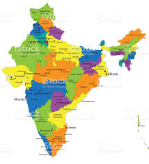 Delhi India Map by Colorful India Political Map With Clearly Labeled Layers Stock
