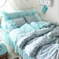 Aqua Bedspread Ruffled Bedding Queen Promotion Shop For Promotional Ruffled