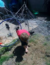 adventures at home with mum outdoor play the spider cave maze