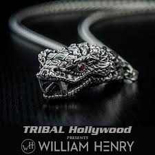 diamond studded william henry diamond studded silver snakehead mens necklace