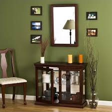 table with glass doors southern enterprises mahogany curio console table with glass doors