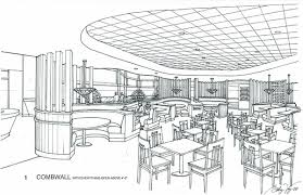 restaurant design 3d ink rendering on behance