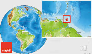 where is and tobago located on the world map physical location map of and tobago
