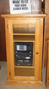 Audio Cabinets With Glass Doors Oak Specialists