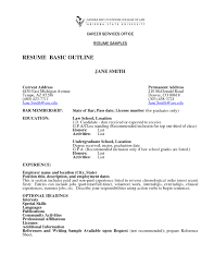 resume writing objective statement best resume outline free resume example and writing download 87 astonishing basic resume outline examples of resumes