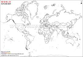 India Blank Outline Map by Outline World Map