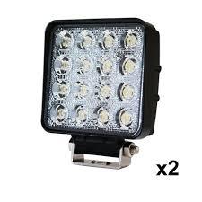 2x 80w led work light flood l offroad tractor truck 4wd suv