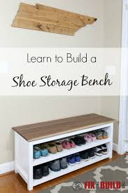 Wood Storage Bench Diy by Diy Entryway Shoe Storage Bench Entryway Bench Storage And Diy