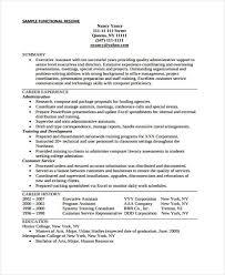 Resume Vitae Sample by 9 Functional Curriculum Vitae Samples Free U0026 Premium Templates