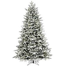 shop ft lit fir flocked artificial pre tree clearance uk 7