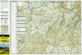 Table Rock Lake Map Lake Placid High Peaks Adirondack Park National Geographic