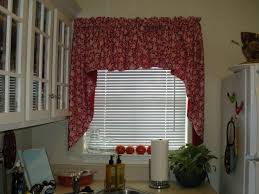 kitchen style red floral pattern curtains for kitchen window our