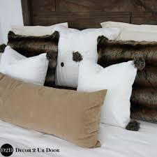 brown fur u0026 white custom designer bedding collection m