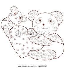 kid coloring panda baby stock vector 433438129