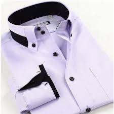 smart five men double collar slim fit long sleeve shirt smart