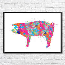 wall decor pig wall art images peppa pig canvas wall art metal