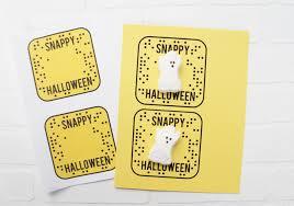 snapchat halloween treat u0026 printable sister u0027s suitcase