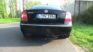 vw passat w8 tuning sound youtube