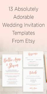 bridal invitation templates 13 absolutely adorable etsy wedding invitation template ideas