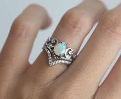 opal wedding ring opal wedding ring set opal engagement ring set vintage
