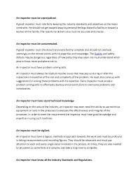 Resume Qualities Qualities Of A Good Quality Control Inspector