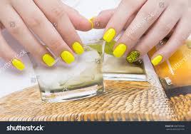 beautiful manicure nail art natural nails stock photo 668749648