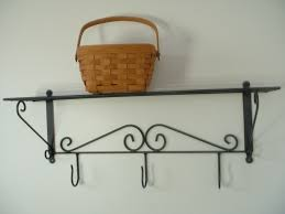 Wrought Iron Wall Shelves Furniture Awesome Wrought Iron Bathroom Shelf With Pretty Look