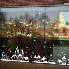 Christmas Window Glass Decorations by Compare Prices On Window Christmas Stickers Online Shopping Buy